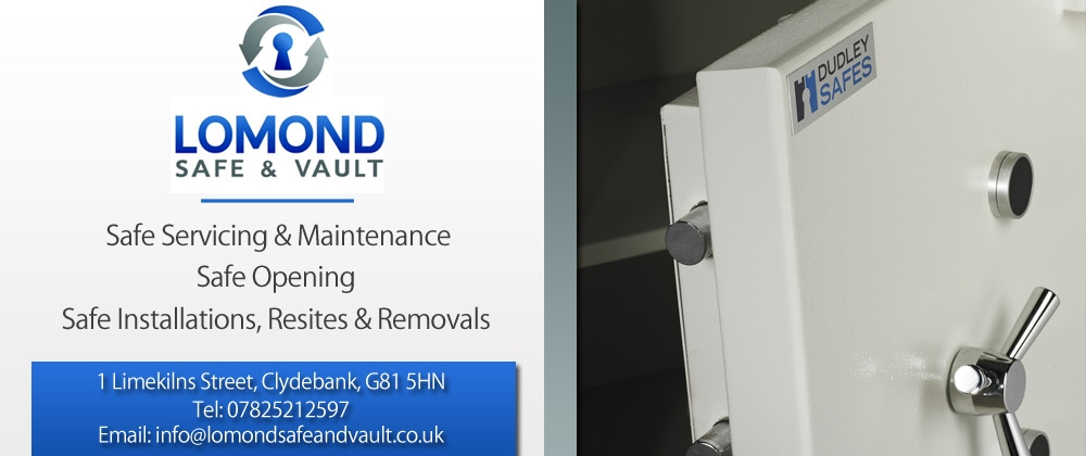 Lomond Safe & Vault, Safe Servicing & Maintenance, Safe Opening, Safe Installations, Resites & Removals